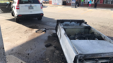 Gas pump starts small fire after car drives off with nozzle still in tank