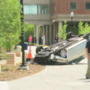 Vehicle rolls over at U. of R. campus