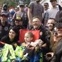 Motorcyclists dressed in superhero costumes surprise boy battling brain cancer