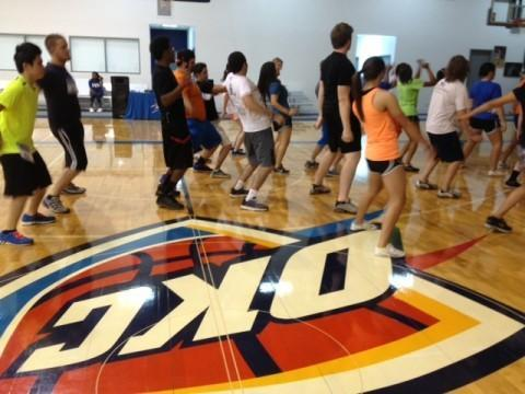 The Oklahoma City Thunder held auditions Wednesday for any and all Oklahomans who have the energy to join the Storm Chasers, the team that keeps fans entertained during game breaks. Here's a look at their auditions.