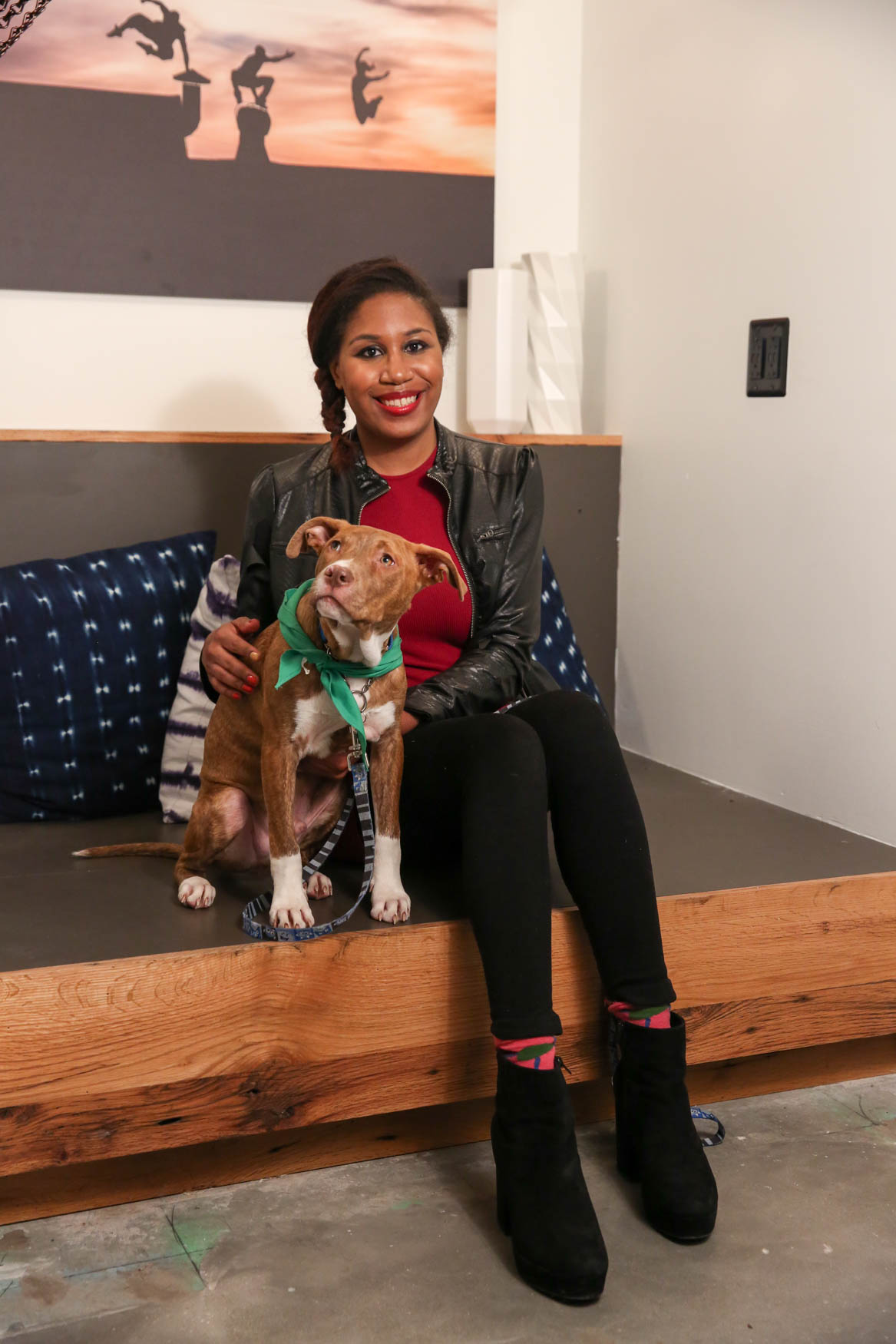 The good news is Uncle was ADOPTED following our photoshoot! His sister Ula is still looking for a home. Photo location: Moxy Washington, D.C. Downtown (Image: Amanda Andrade-Rhoades/ DC Refined)