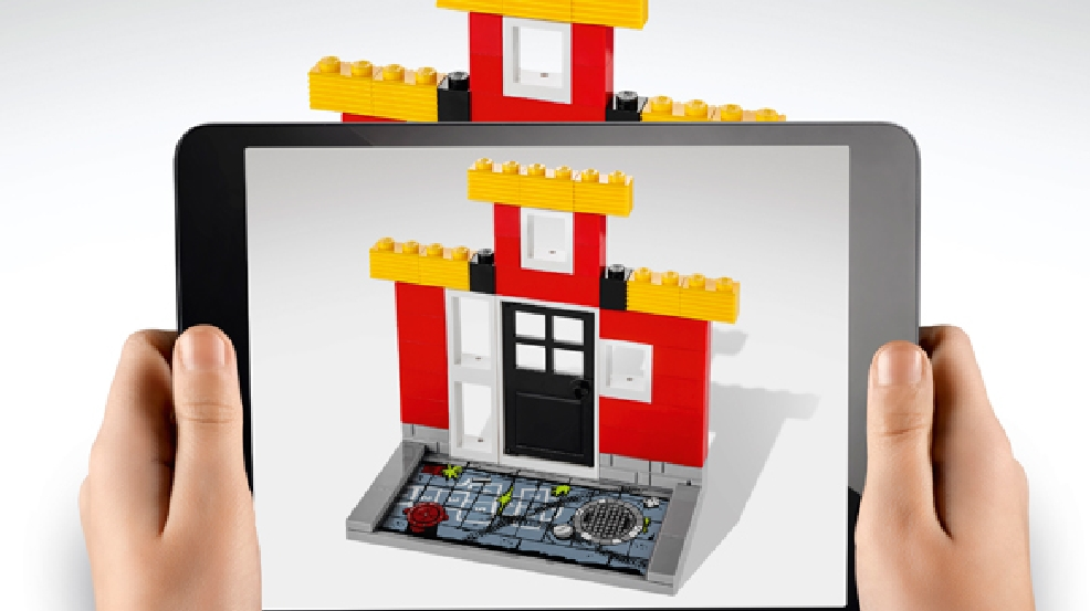 This undated image provided by Lego shows a version of the Lego Fusion line, a play experience that combines traditional LEGO brick play with familiar app-based game themes. (AP Photo/Lego)