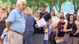 Dozens rally for LGBT rights in Wheeling