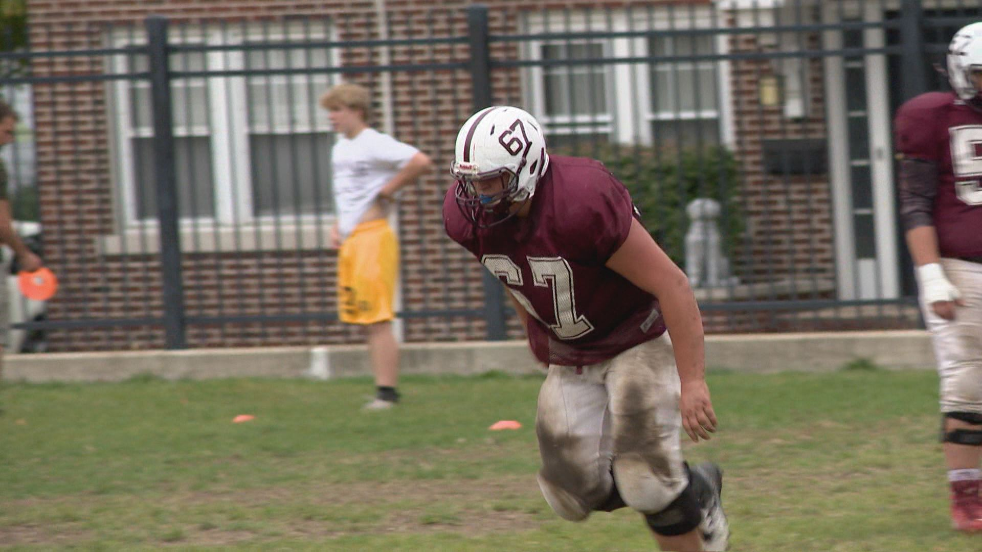 Faulkner is a force up front for the Mishawaka Cavemen // WSBT 22 Photo<p></p>