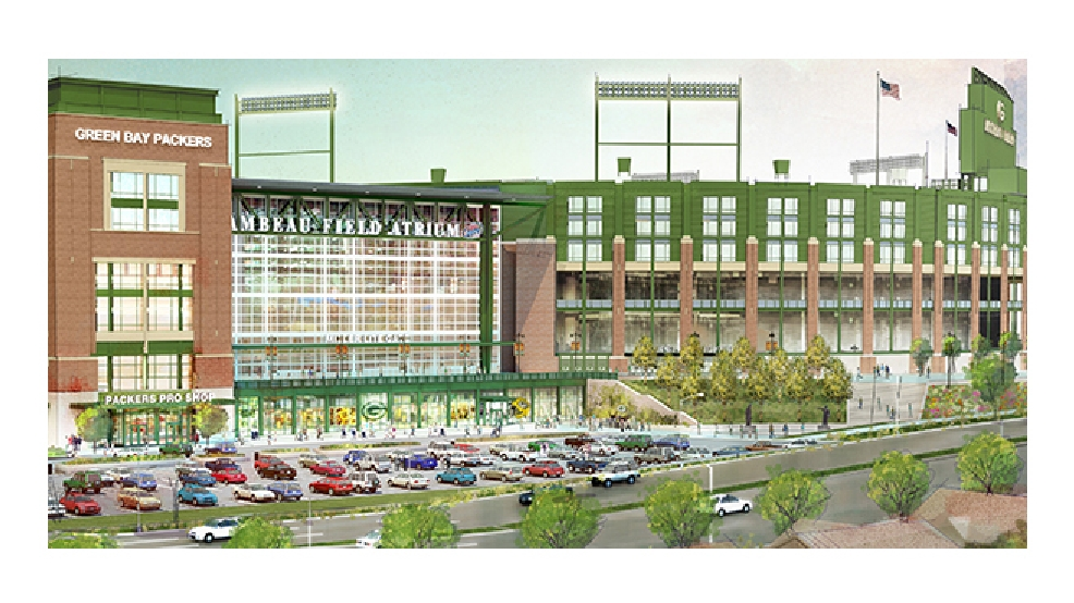 An updated rendering of the changes to Lambeau Field. (Courtesy: Green Bay Packers)