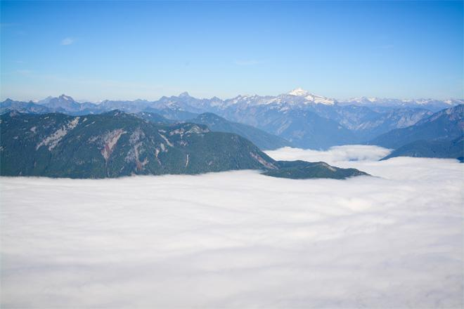 Fog fills the valley below on Mt. Persis near Index on Oct. 26, 2013. (Photo: Brendan Fahey)
