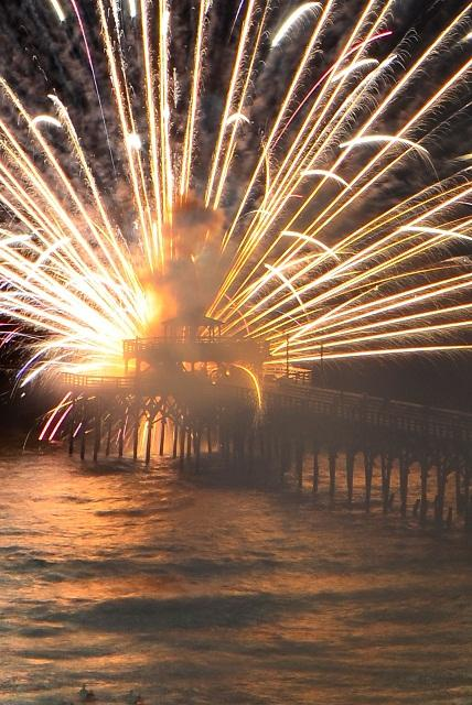 Photo Courtesy: David Roe/Fireworks accident on Cherry Grove pier