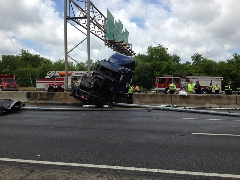 Tractor trailer accident on I59 - 5-9-12