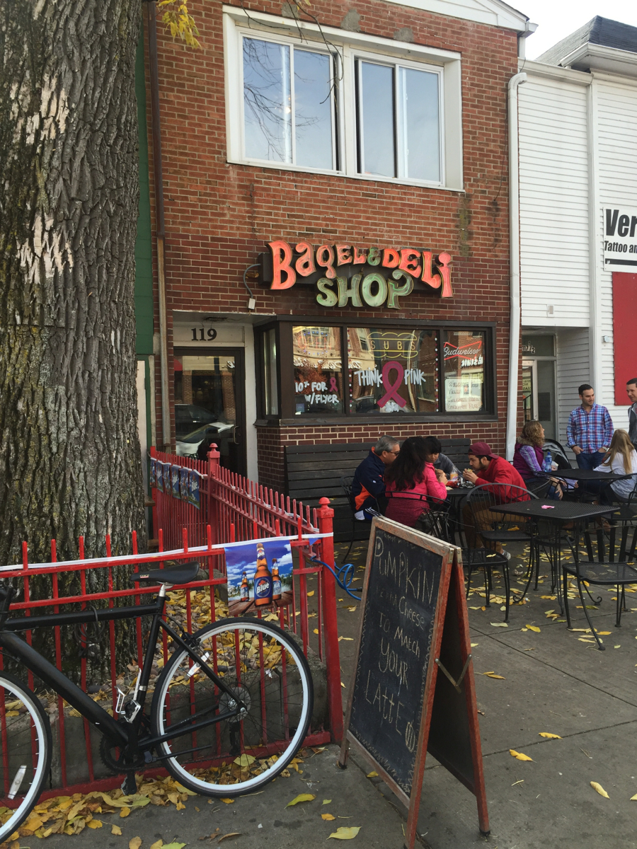 "PLACE: Bagel & Deli / ADDRESS: 119 E High St, Oxford (45056) / Bagel & Deli is a casual eatery on High Street offering more than 90 steamed bagel sandwiches on their hand-drawn menu, such as the famous ""Crunch n' Munch"" topped with Doritos chips; the ""Cookie Monster"" with cream cheese, cinnamon, and a chocolate chip cookie; and the ""Just a Bagel,"" which is exactly what you think it is. Their sandwiches range between $5-10.  / Image:{ }Nicole Weinrich // Published: 8.2.19"