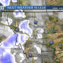 Dry on Sunday, but light snow possible Monday