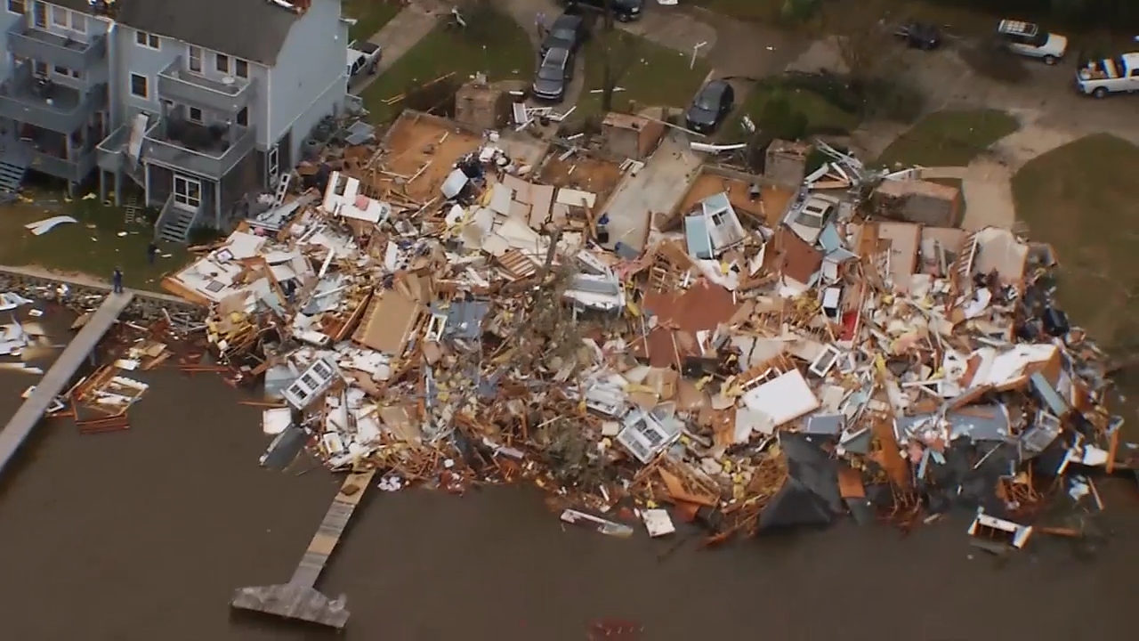 aerial video shows extensive tornado damage in pensacola photos wbma. Black Bedroom Furniture Sets. Home Design Ideas