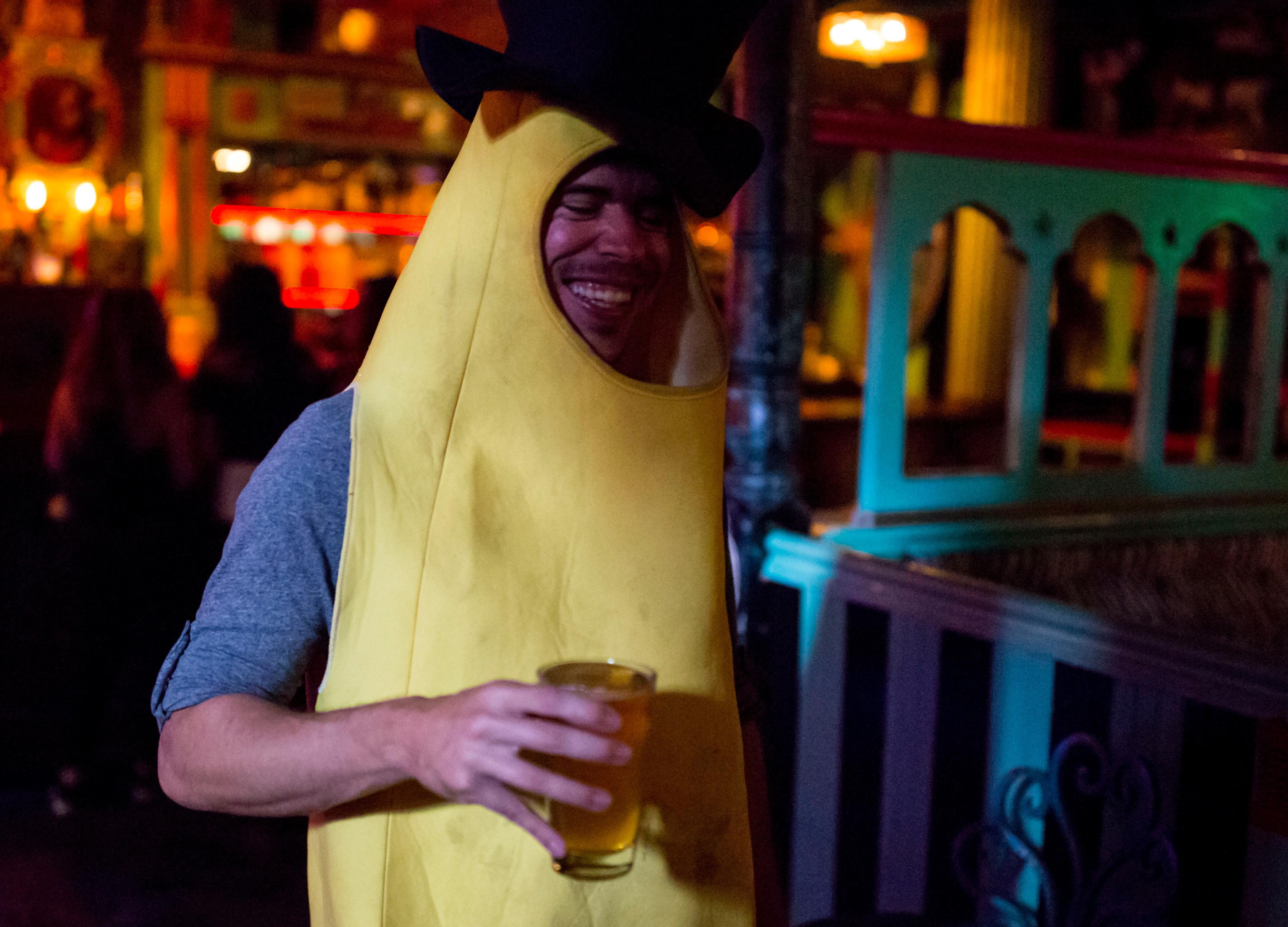 The inaugural Seattle Banana Bunch meetup took place last night at the Unicorn in the Capitol Hill neighborhood of Seattle. The group was originally founded by Portland resident Shawn MacArthur in September 2015 after he and his friends thought it would be a fun time to hit the bars in costume. Their last banana meetup had over 60 attendees, so MacArthur has branched out to Seattle with his friend Colin Beckley to build a banana community in the Emerald City. Why? The group believes in a culture of inclusivity, and sometimes it's hard to make friends with the ever-looming Seattle Freeze. I mean - who doesn't want to don a yellow costume and drink beer? (Sy Bean / Seattle Refined)
