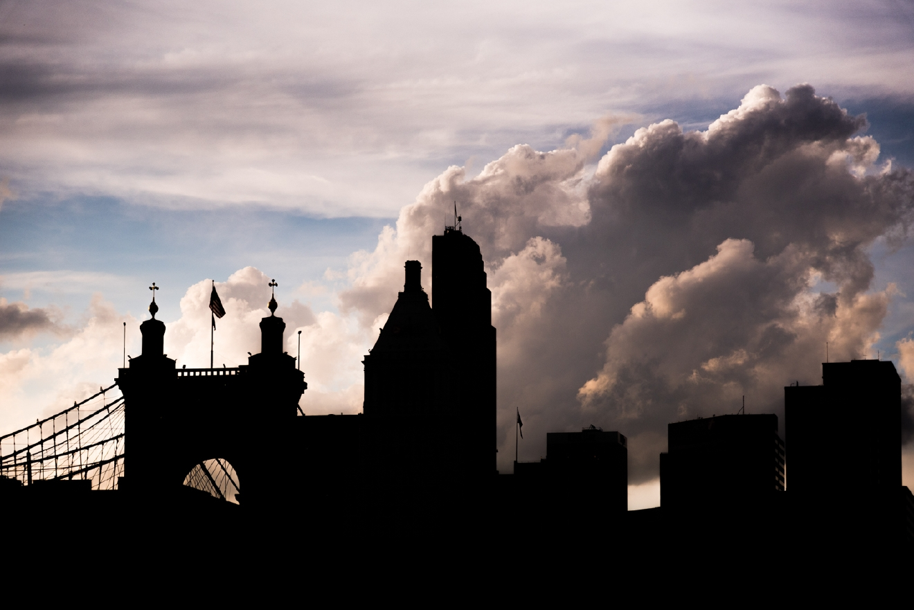 The city meets the sky at the banks of the Ohio River / Image: Phil Armstrong, Cincinnati Refined