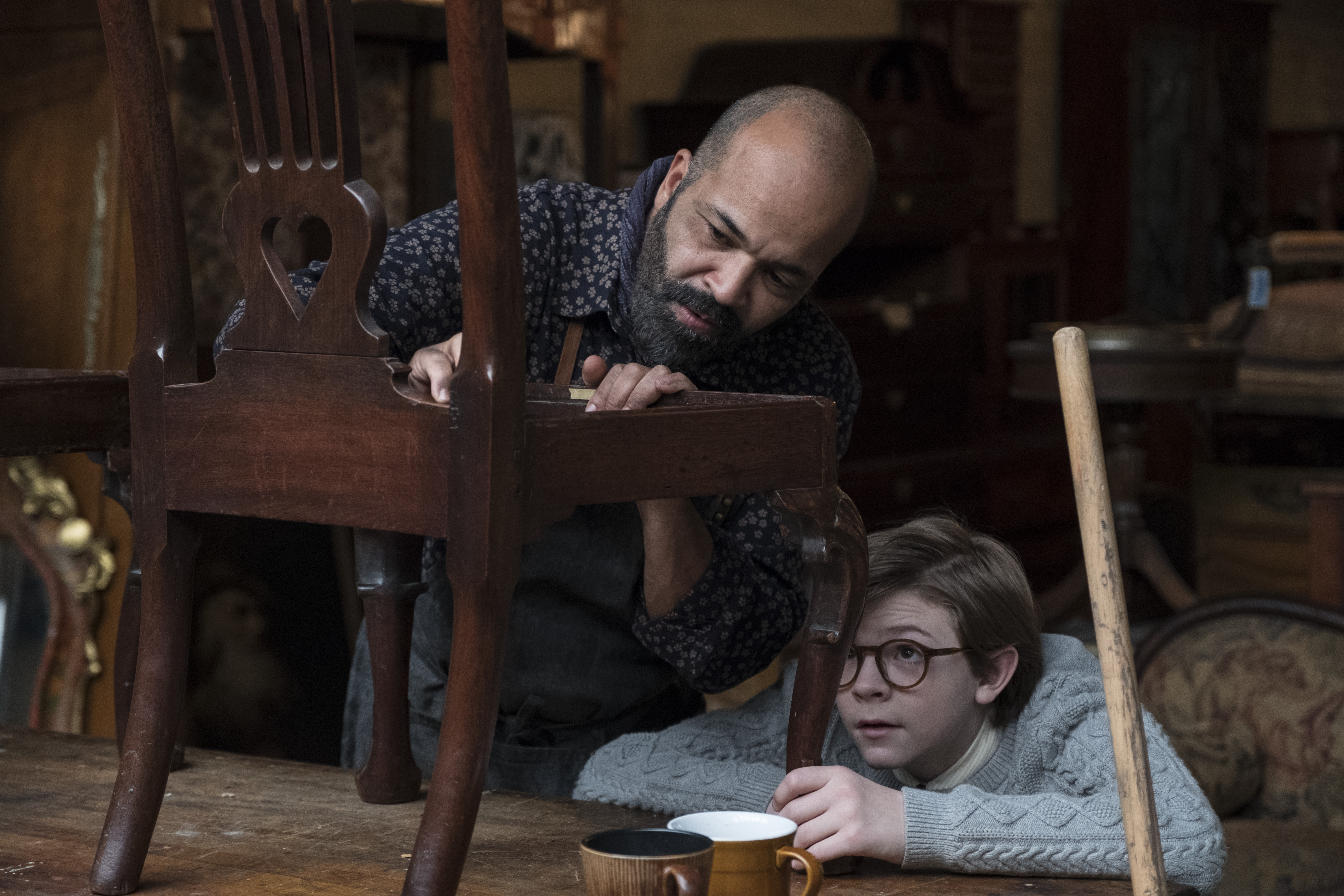 (L-r) ANSEL ELGORT as Theo Decker and JEFFREY WRIGHT as Hobie in Warner Bros. Pictures' and Amazon Studios' drama, THE GOLDFINCH, a Warner Bros. Pictures release.{ }(Image: Warner Bros)