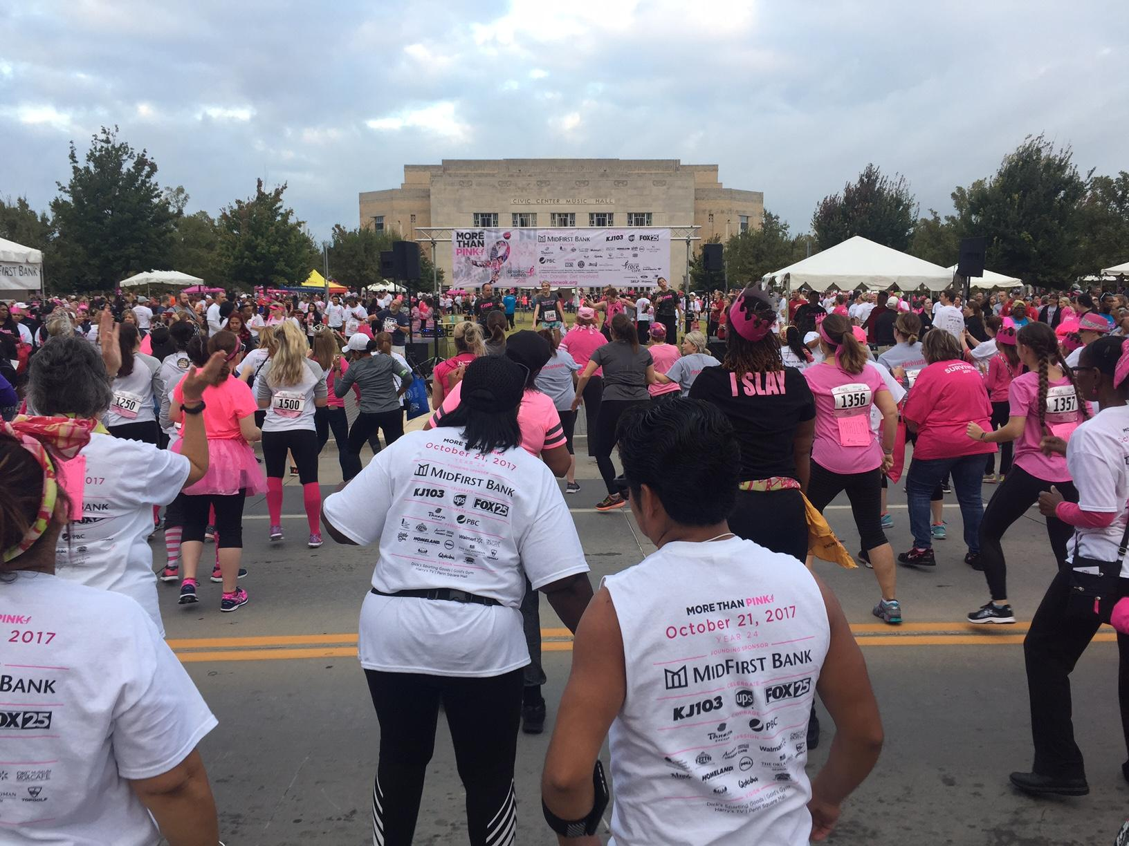 Getting ready for the annual Race for the Cure in Oklahoma City on Saturday, October 21, 2017.  (Scott Noland/KOKH)