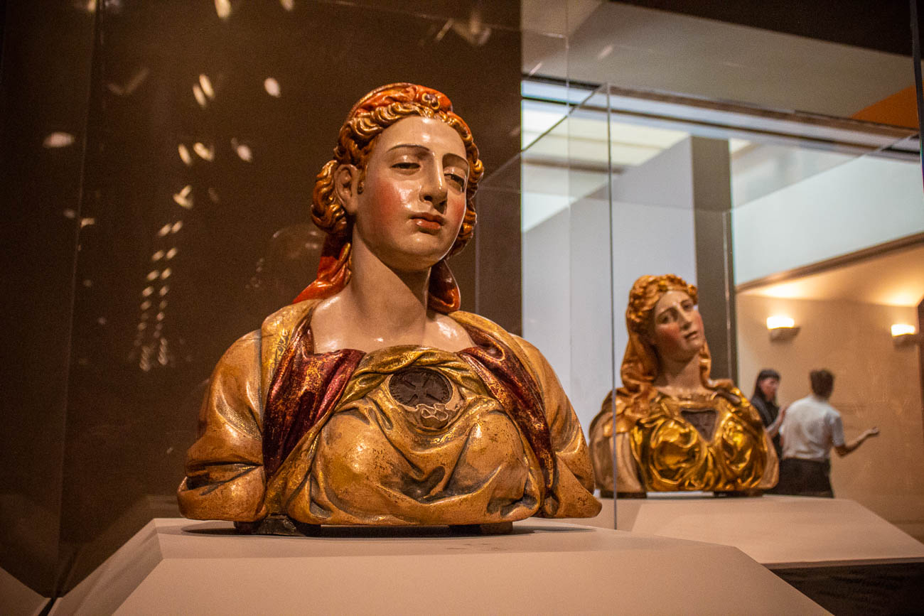 The pictured busts most likely represent the biblical sisters Mary and Martha. They were made by Juan de Juni, an artist during the Spanish Renaissance, and date back to circa 1545. / Image: Katie Robinson, Cincinnati Refined // Published: 10.26.19