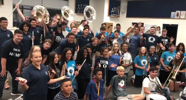 Osbourn High School is one of nine schools in Manassas that are heading back for the first day of school on Monday.{ } The Osbourn High School band started the day with an early morning performance before classes begin.{ } Aug. 19, 2019. (Kristen Powers/ABC7){ }