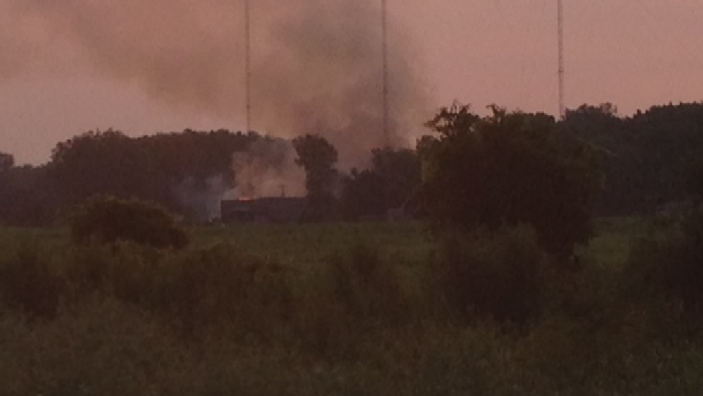 Fire at Fox Valley Fibre in Winnebago County.  July 18, 2014