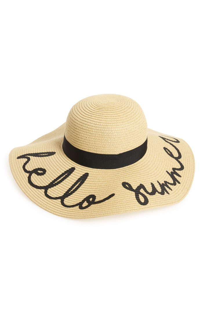 BP Hello Summer Floppy Straw Hat ($25). It's time to celebrate Momma.  Here is our Nordie's gift guide for items under $50! (Image: Nordstrom)
