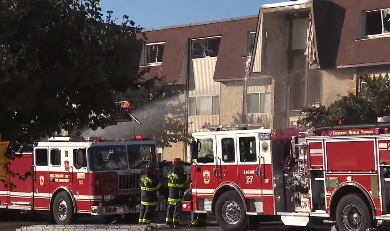 NE BALTIMORE: 7 firefighters, 2 others hurt in apartment gas explosion