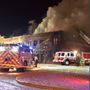 Large fire at furniture store in Vinton