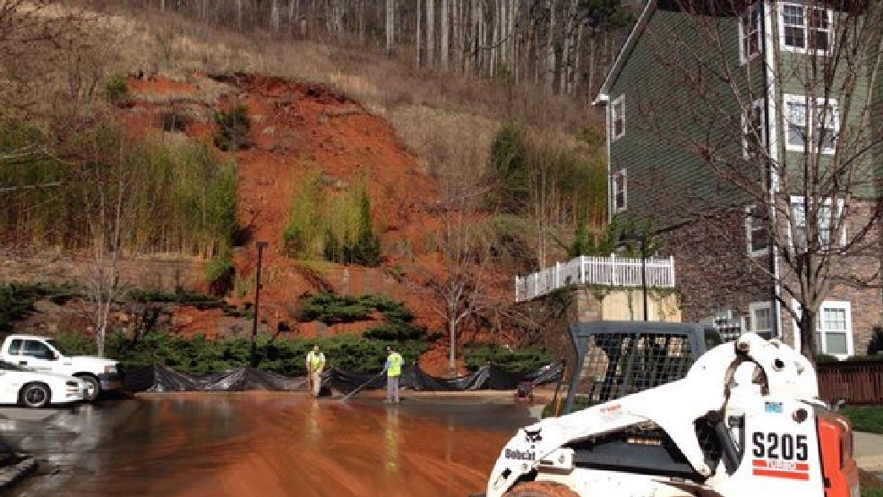 Concrete Barrier Falls Over Near Homes Causes Mudslide Wstm