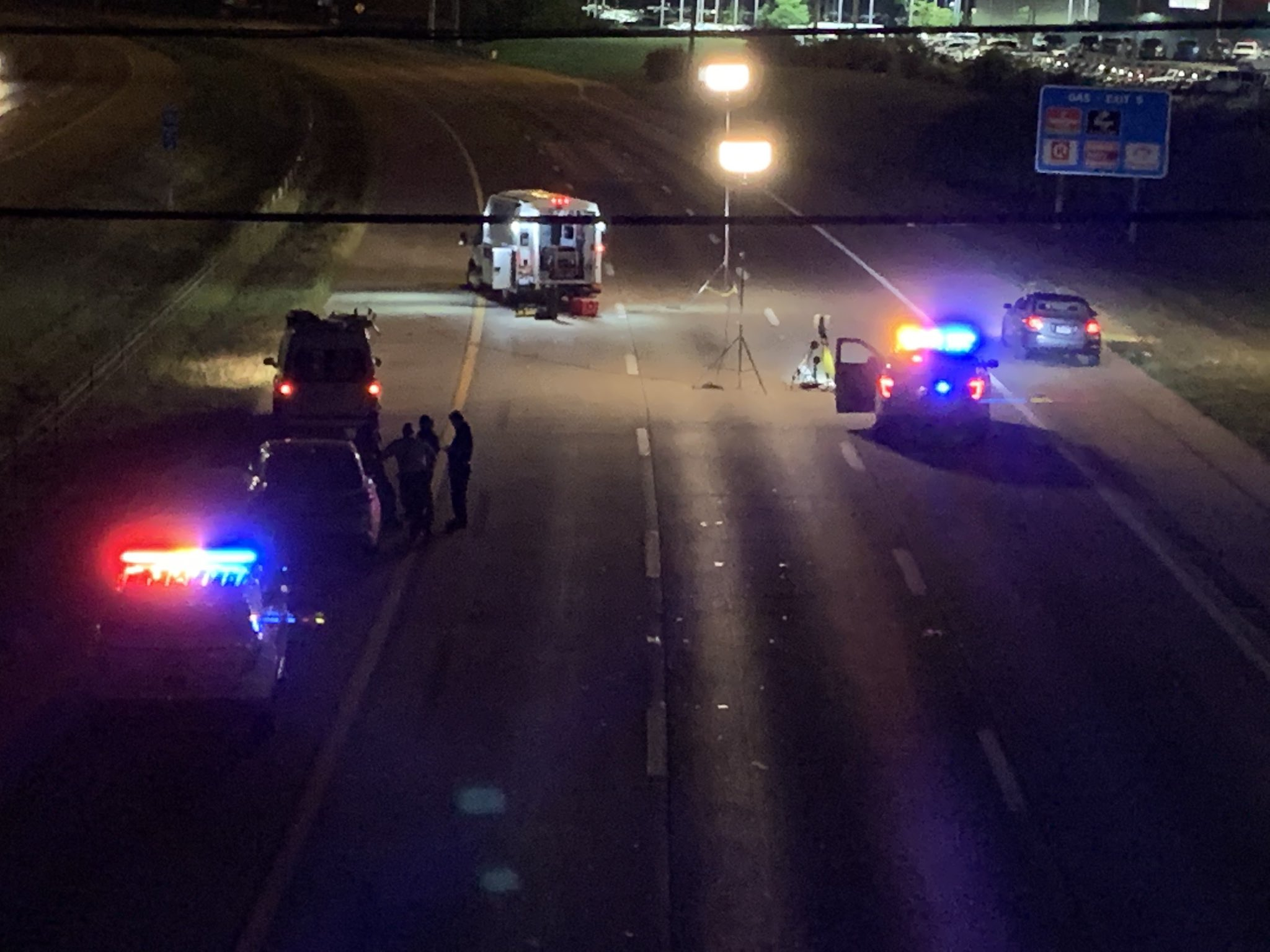 Two teens were hospitalized after a shooting on I-270 southbound in southwest Columbus Aug. 13, 2020. (WSYX/WTTE)