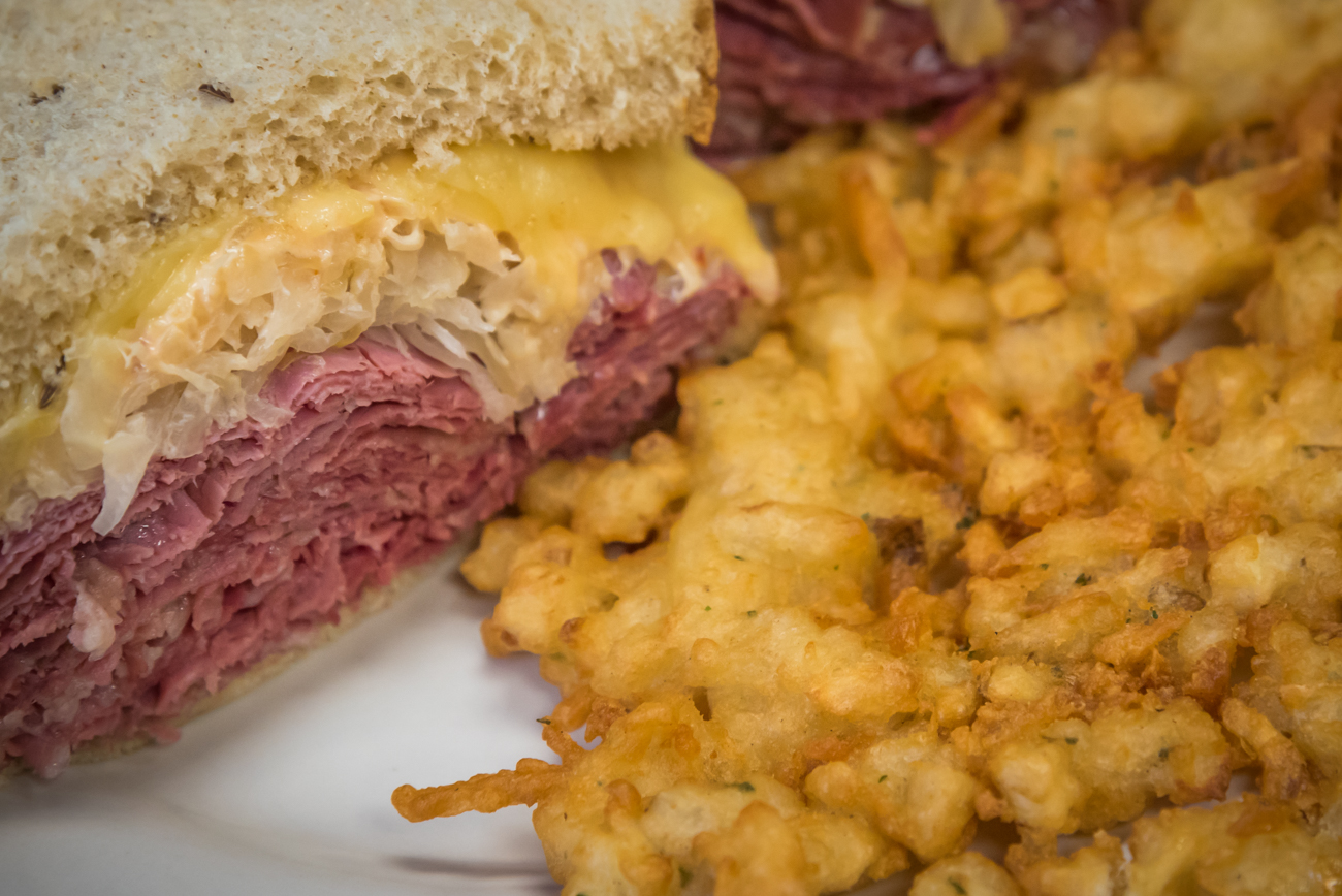 Izzy's Famous Reuben with potato pancake / Image: Phil Armstrong, Cincinnati Refined // Published: 4.6.17