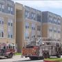 OLLU dorm under construction catches fire