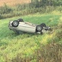 Driver OK after car flips