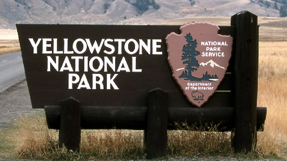 Yellowstone National Park sign at the North Entrance. (Photo Credit: Courtesy: Yellowstone National Park - Jim Peaco)
