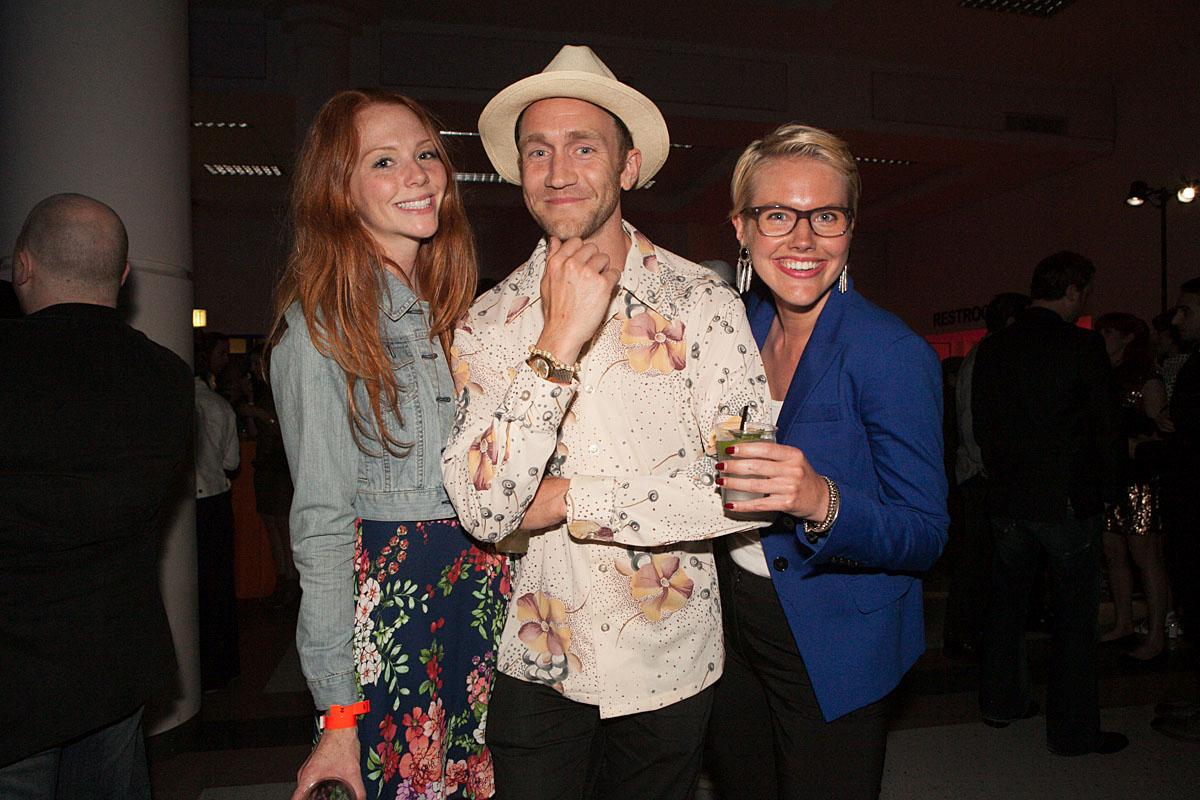 Brittany, Billy and Kristina party the night in McCaw Hall at the SIFF Opening Night Gala. (Image: Joshua Lewis / Seattle Refined)