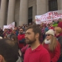 Thousands rally on state capitol steps calling for lawmakers to fully fund education