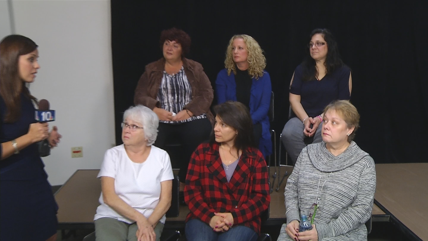 These six women, who shared their stories of cancer, are asking the RI Health Dept. to include them in its investigation of a possible cancer cluster (WJAR photo)