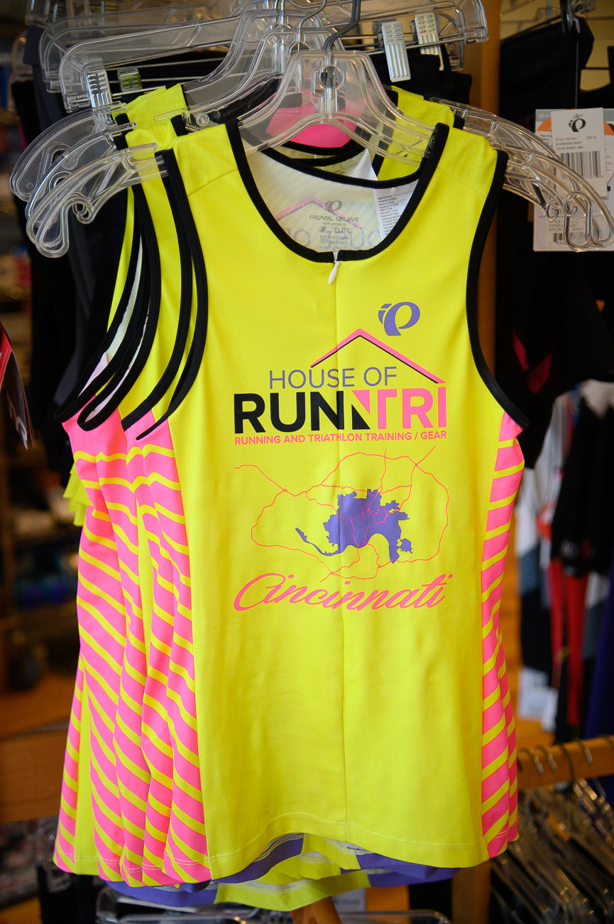 In addition to shoes and fittings, House of Run N Tri sells various other marathon-related gear. / Image: Phil Armstrong, Cincinnati Refined // Published: 5.30.19