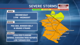 Severe storms possible this afternoon and evening