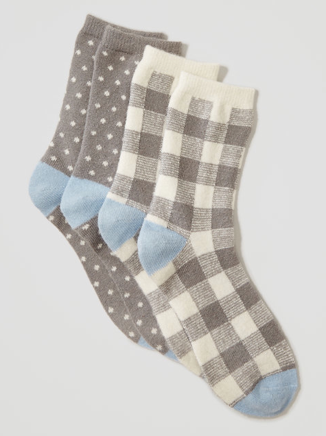 The Loft Cozy Plaid Crew Sock Set - $19.50 (MoKiMedia)