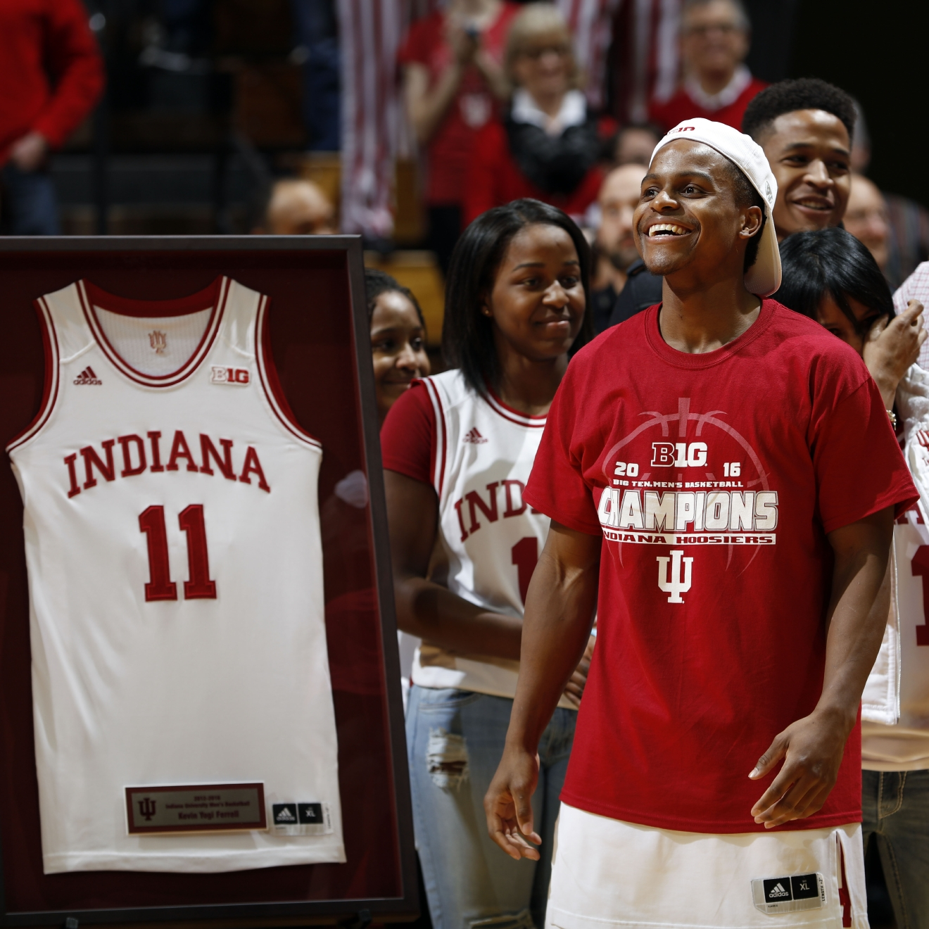 iu s ferrell d usa today sports second team all american wkrc na guard yogi ferrell smiles at the crowd as part of senior night festivities after an