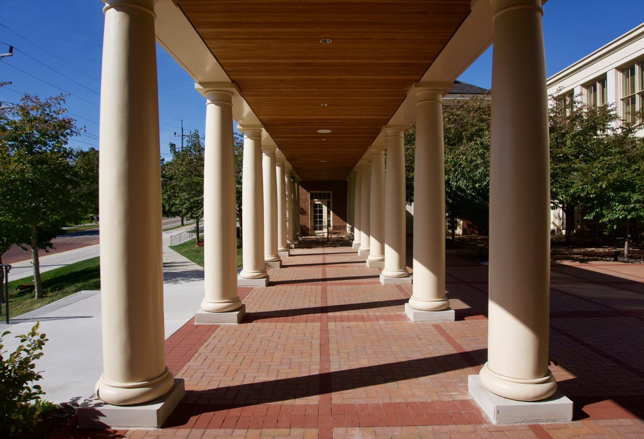 "PLACE: Miami University / ADDRESS: 501 E. High Street, Oxford, OH (45056) / American poet Robert Frost described Miami University as, ""the most beautiful campus that ever there was."" One visit is all you'll need to agree with him. The University dates back to 1809, ranked as the second oldest Ohio university and the country's 10th oldest public university. Red brick buildings, manicured pathways, and towering trees turn every corner of the sprawling campus into the perfect spot for a photoshoot. / Image: Brian Planalp // Published: 8.2.19"