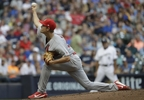 St. Louis Cardinals starting pitcher Luke Weaver throws during the first inning of a game against the Milwaukee Brewers Wednesday, Aug. 2, 2017, in Milwaukee.