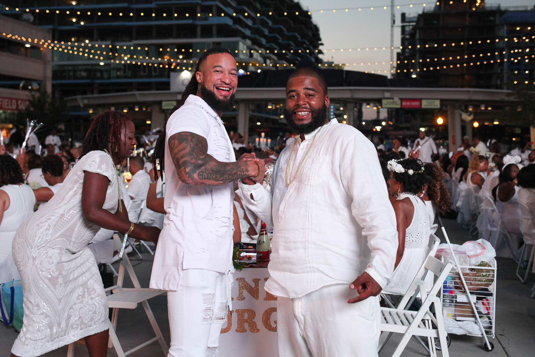 These guys brought their A-game to Diner en Blanc! We love how they stuck with the theme but went above the basic.{ } (Amanda Andrade-Rhoades/DC Refined)