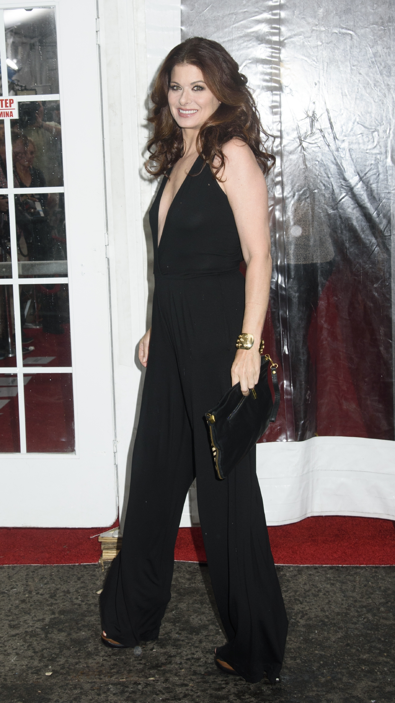 "Debra Messing attends the New York premiere of ""Cafe Society."" (WENN.com)"