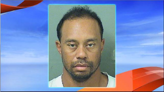 Jupiter Police arrested golfer Tiger Woods on a charge of suspicion of DUI after finding him asleep at the wheel of his car on Military Trail Road.  Image Courtesy: PBSO.