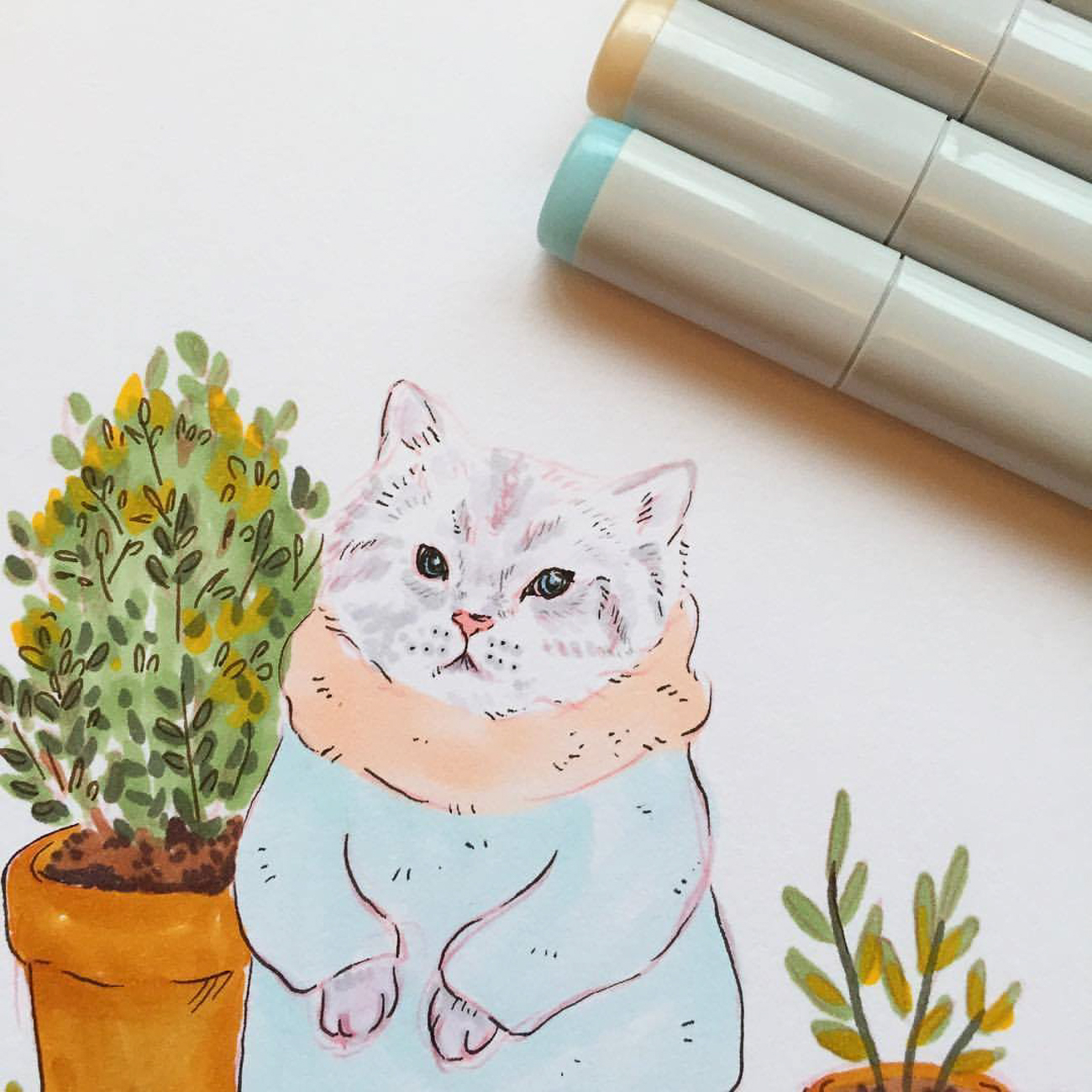 Sammie Clark Art offers storybook-esque drawings and custom pieces. You can find her work online and at BluClover in downtown Lebanon. / Image courtesy of Sammie Clark Art // Published: 1.14.18