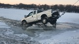 Truck falls through ice on Donnell Lake in Cass County