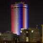 WoodmenLife Tower lit red, white and blue to honor victims of Manchester terror attack