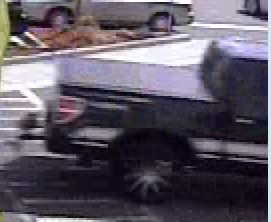 According to Goose Creek Police, the man videoed leaving the Walmart Neighborhood Market and Walmart Supercenter April 16 after using a cloned credit card drove this truck. (Goose Creek PD)