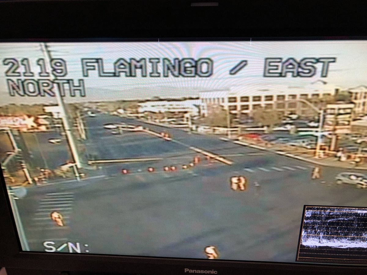 LVMPD responding to a fatal crash at Flamingo and Eastern. (KSNV){&amp;nbsp;}<p></p>