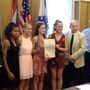 Indian Creek girls 4x4 track team honored