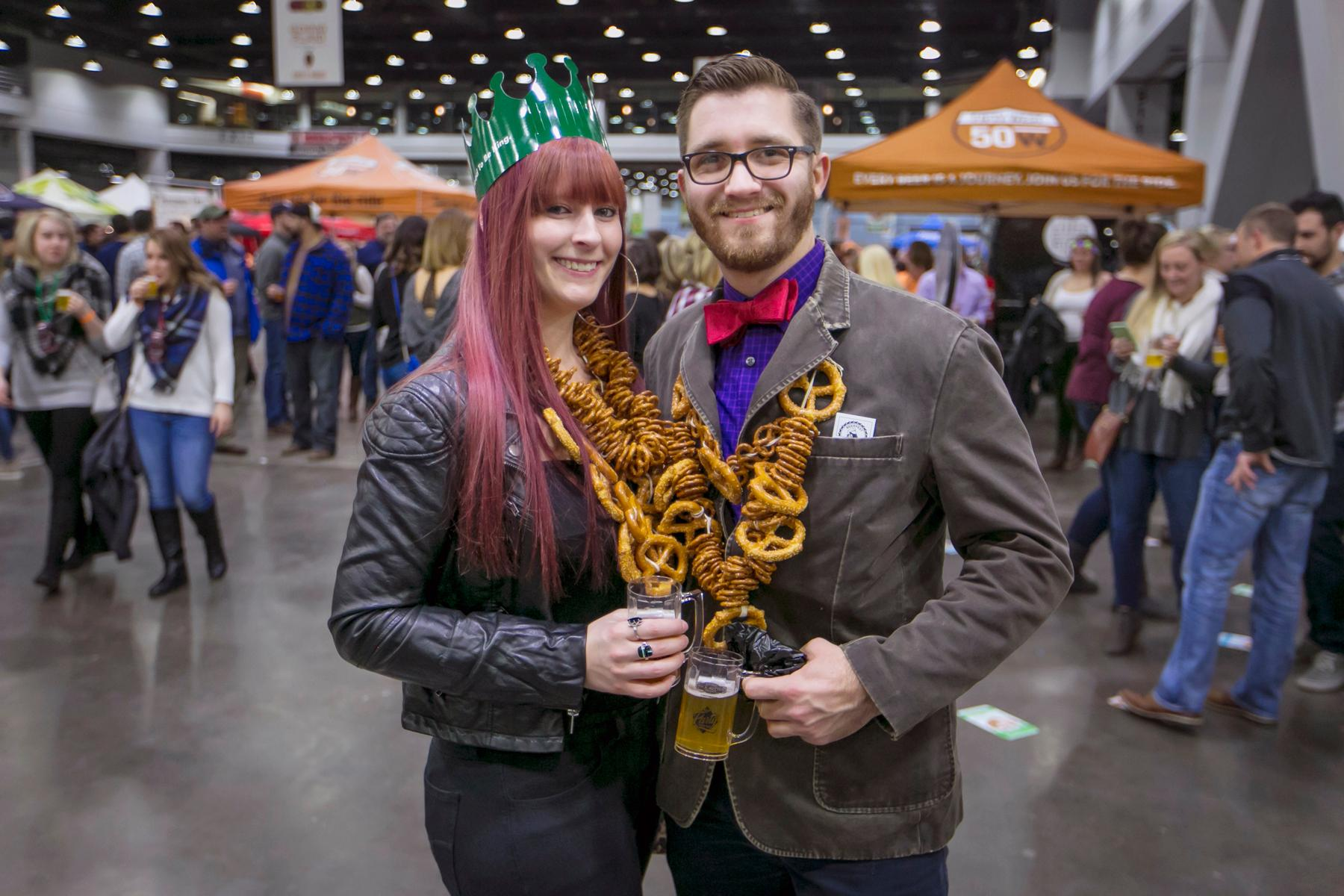 Pictured: Jamie Dewar and Caleb Richardson / Event: Cincy Winter Beerfest (Feb. 2-3, 2018) / Image: Mike Bresnen Photography // Published: 3.3.18